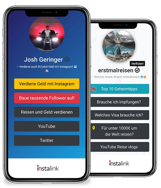 instalink, linktree alternative, instagram link baum