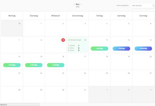 instagram beiträge planen kalender